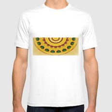 Golden Jewel with Emerald stones  MEDIUM Mens Fitted Tee White