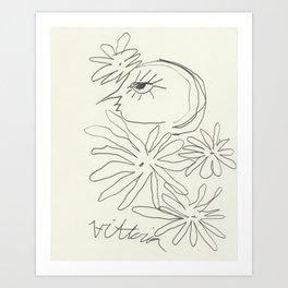 Let My Flowers Be Art Print