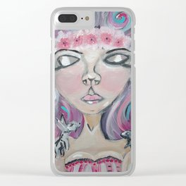 BUNNY GIRL Clear iPhone Case
