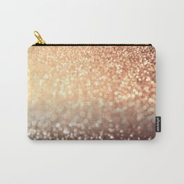 Cozy Copper Espresso Brown Ombre Autumnal Mermaid Glitter Carry-All Pouch