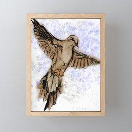 Morning dove Framed Mini Art Print