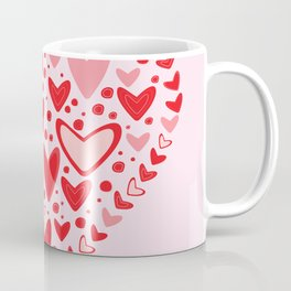 Love concept of hearts in the shape of a heart Coffee Mug