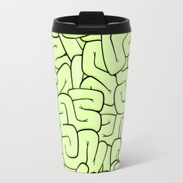 Zombie Brains in Lime Large Travel Mug