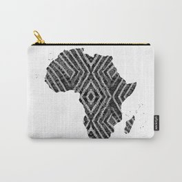 Africa in Dark Grey Carry-All Pouch