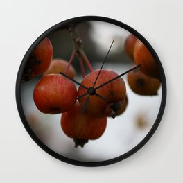 Crab Apples Macro Wall Clock