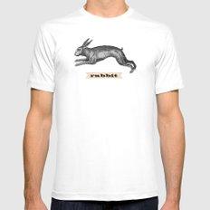 rabbit MEDIUM Mens Fitted Tee White