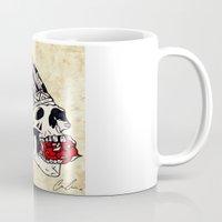 dress Mugs featuring Head dress  by Chris Costa