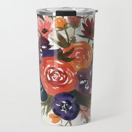 Country Fall Watercolor Bouquet Travel Mug