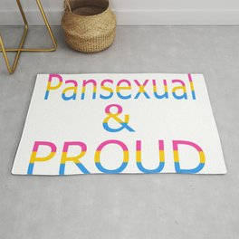 Pansexual and Proud (white bg) Rug