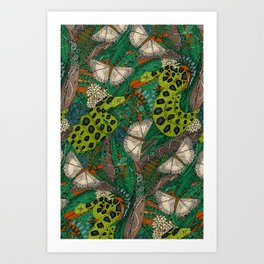 entangled forest rust Art Print