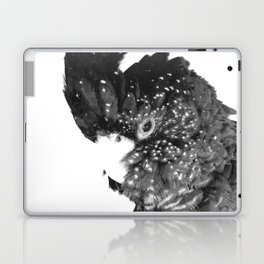 Black and White Cockatoo Illustration Laptop & iPad Skin