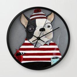 Waldo the Boston Terrier Wall Clock