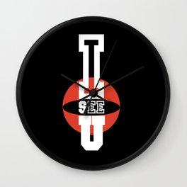 I See You inverse Wall Clock