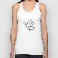 cassette Tank Tops featuring Cassette by Sonia Puga Design
