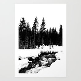 St. Helens Snowshoe + River Art Print