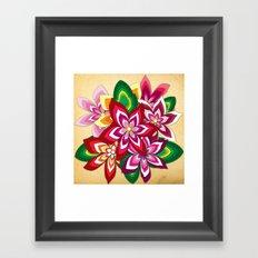 Colourful Flowers Framed Art Print