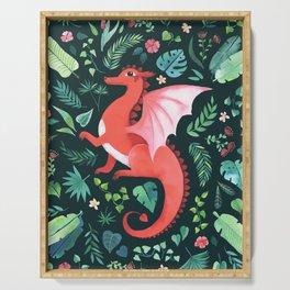 Tropical Dragon Serving Tray