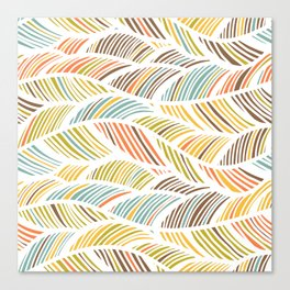 artistic waved lines Canvas Print