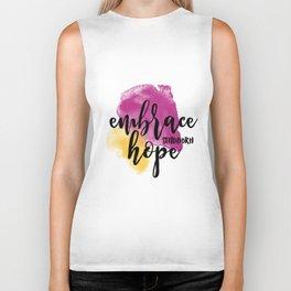 Embrace Stubborn Hope Biker Tank