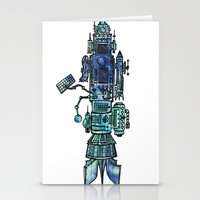 spaceship Stationery Cards featuring Spaceship  by Joseph Kennelty