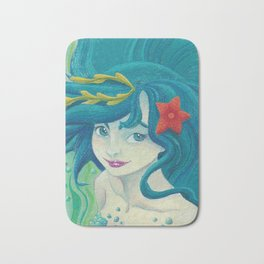 Teal Mermaid Bath Mat