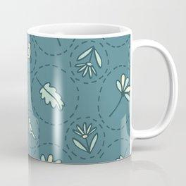 Tiny Floral Birds Dotty Seamless Pattern Coffee Mug