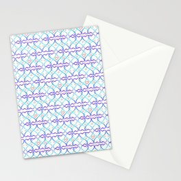 Pink and blue heart Stationery Cards
