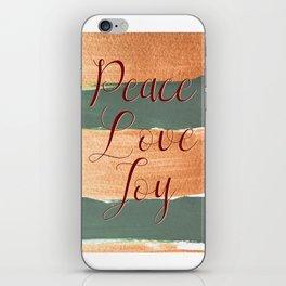 Peace Love Joy #holidays #Christmas iPhone Skin