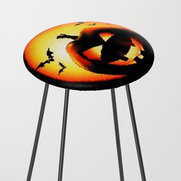Smile Of Scary Pumpkin Counter Stool
