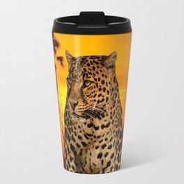 Leopard and Sunset Travel Mug