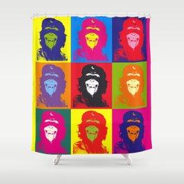 Chimp Guevara 9 Times T-shirt Canvas Print Shower Curtain