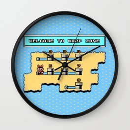 Welcome To Warp Zone Wall Clock