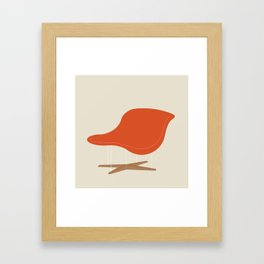 Orange La Chaise Chair by Charles & Ray Eames Framed Art Print