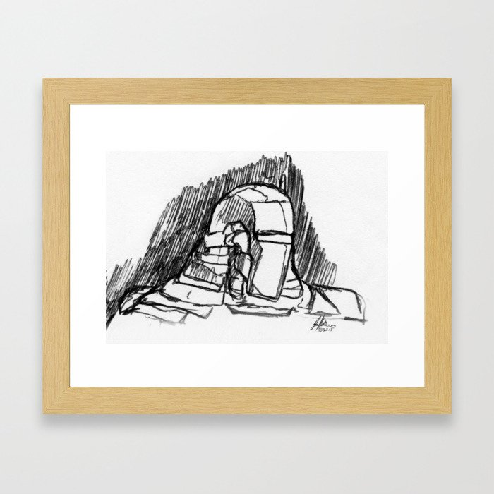 Warbot Sketch #049 Framed Art Print