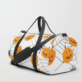 Halloween Pattern Spider Pumpkin Duffle Bag