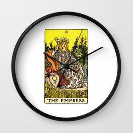 Vintage Tarot Card The Empress Wall Clock