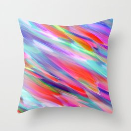 Colorful digital art splashing G399 Throw Pillow