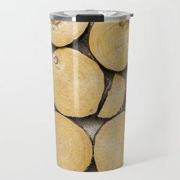 Chopped Timber Log Abstract Travel Mug