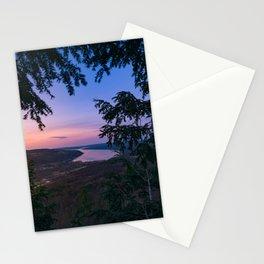 Sunset over Keuka Stationery Cards