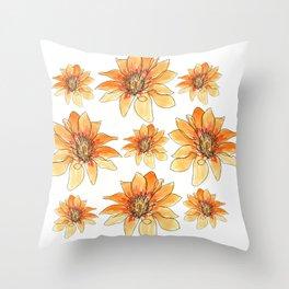 Fire Flowers Throw Pillow