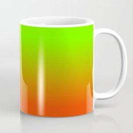 Neon Green and Neon Orange Ombré  Shade Color Fade Coffee Mug