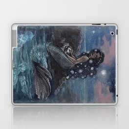 Evening Glow Mermaid and Firefly Squid Laptop & iPad Skin