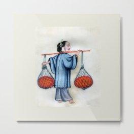 Pith Painting Baskets Metal Print