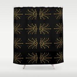 Gold Burst Shower Curtain