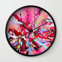 Red Arrangement Wall Clock