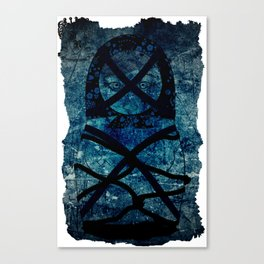 Blueprint Bondage (background) Matryoshka  / Nesting Doll  Canvas Print