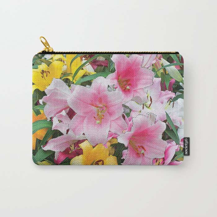 SPRING LILIES FLOWER GARDEN MEDLY Carry-All Pouch