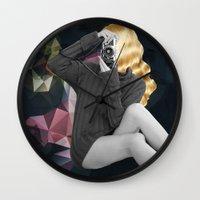 selfie Wall Clocks featuring Selfie by Cs025