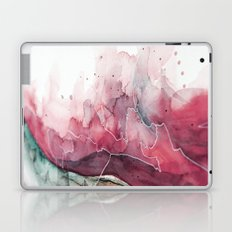Watercolor pink & green, abstract texture Laptop & iPad Skin
