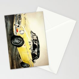 MGC 1969 Roadster Classic Sports Car Acrylics On Paper Stationery Cards
